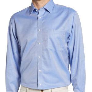Nordstrom SmartCare TrimFit Herringbone DressShirt